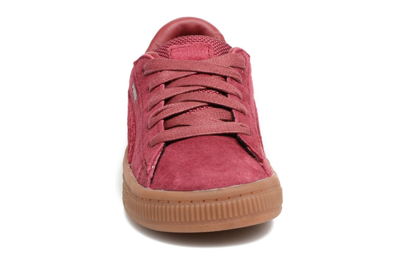 Baskets Puma INF BASKET CLASSIC WEATH Bordeaux vue portées chaussures