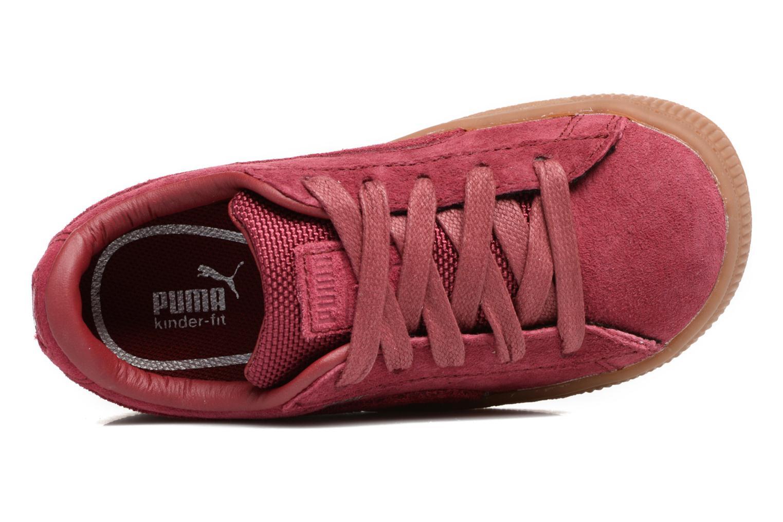 Baskets Puma INF BASKET CLASSIC WEATH Bordeaux vue gauche