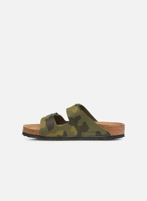 Sandaler Birkenstock Arizona Flor Soft Footbed M Grøn se forfra