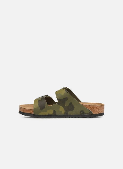 Sandales et nu-pieds Birkenstock Arizona Flor Soft Footbed M Vert vue face
