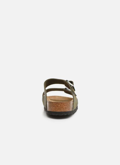 Sandales et nu-pieds Birkenstock Arizona Flor Soft Footbed M Vert vue droite
