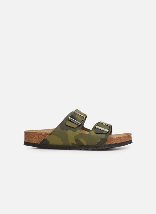 Sandales et nu-pieds Birkenstock Arizona Flor Soft Footbed M Vert vue derrière
