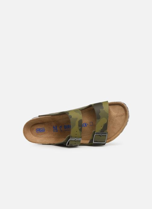 Sandales et nu-pieds Birkenstock Arizona Flor Soft Footbed M Vert vue gauche