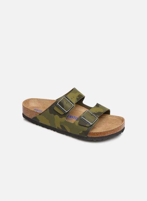 Sandales et nu-pieds Birkenstock Arizona Flor Soft Footbed M Vert vue détail/paire