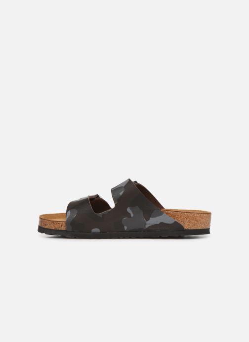 Sandales et nu-pieds Birkenstock Arizona Flor Soft Footbed M Marron vue face