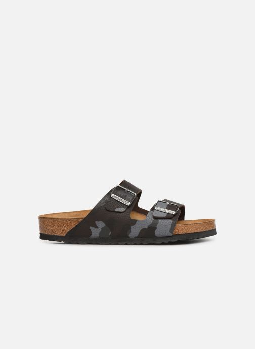 Sandales et nu-pieds Birkenstock Arizona Flor Soft Footbed M Marron vue derrière