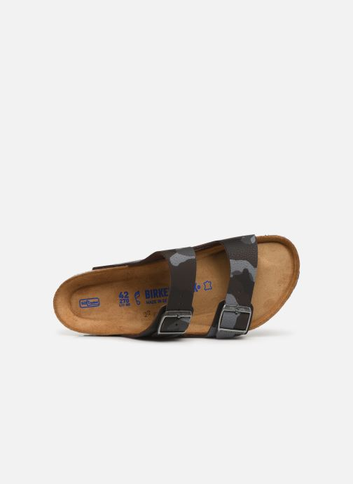 Sandales et nu-pieds Birkenstock Arizona Flor Soft Footbed M Marron vue gauche