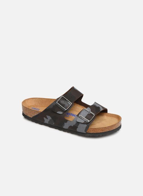 Sandales et nu-pieds Birkenstock Arizona Flor Soft Footbed M Marron vue détail/paire