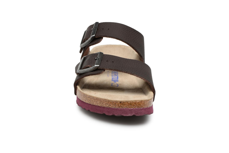 Sandaler Birkenstock Arizona Flor Soft Footbed M Brun se skoene på