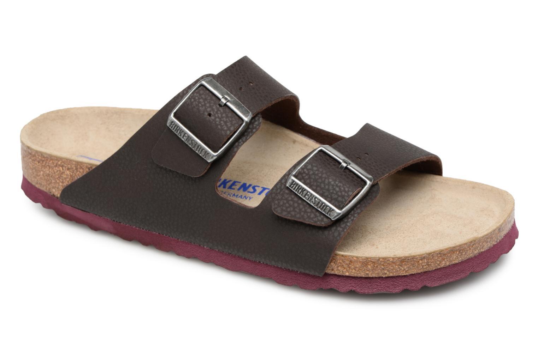 Sandaler Birkenstock Arizona Flor Soft Footbed M Brun detaljeret billede af skoene