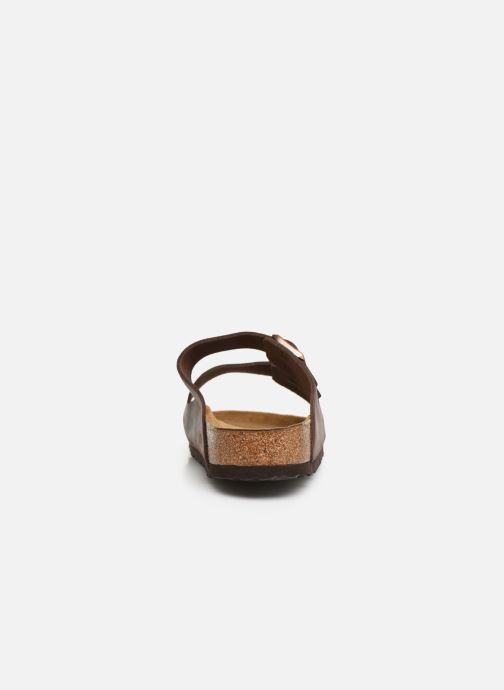 Sandales et nu-pieds Birkenstock Arizona Cuir Soft Footbed M Marron vue droite