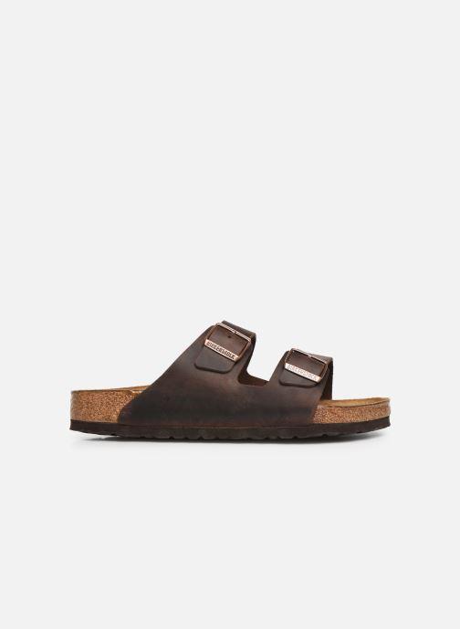 Sandales et nu-pieds Birkenstock Arizona Cuir Soft Footbed M Marron vue derrière