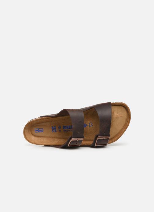 Sandalen Birkenstock Arizona Cuir Soft Footbed M braun ansicht von links