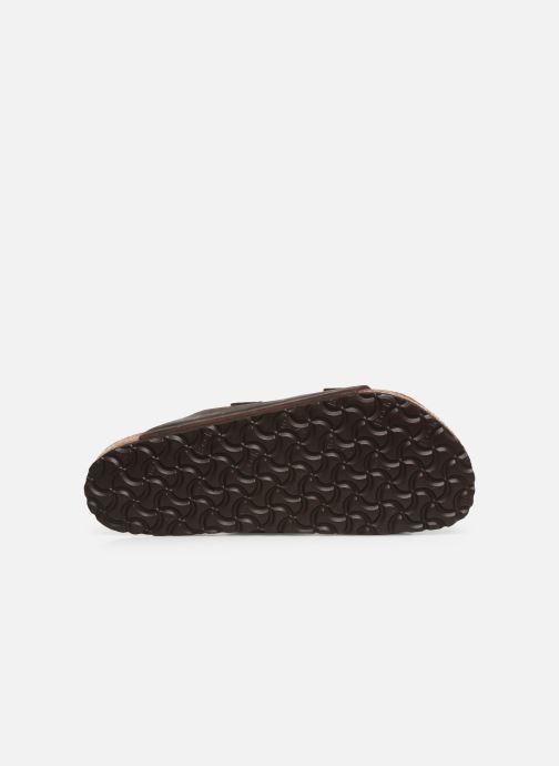 Sandales et nu-pieds Birkenstock Arizona Cuir Soft Footbed M Marron vue haut