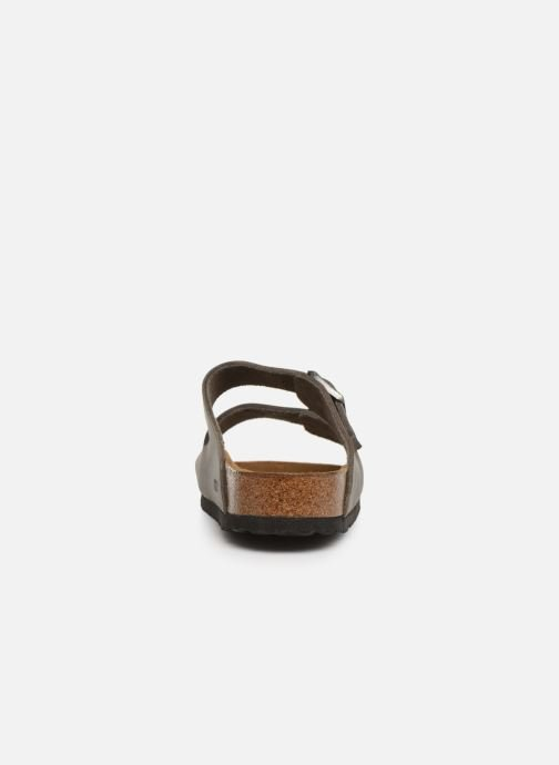 Sandals Birkenstock Arizona Cuir Soft Footbed M Grey view from the right