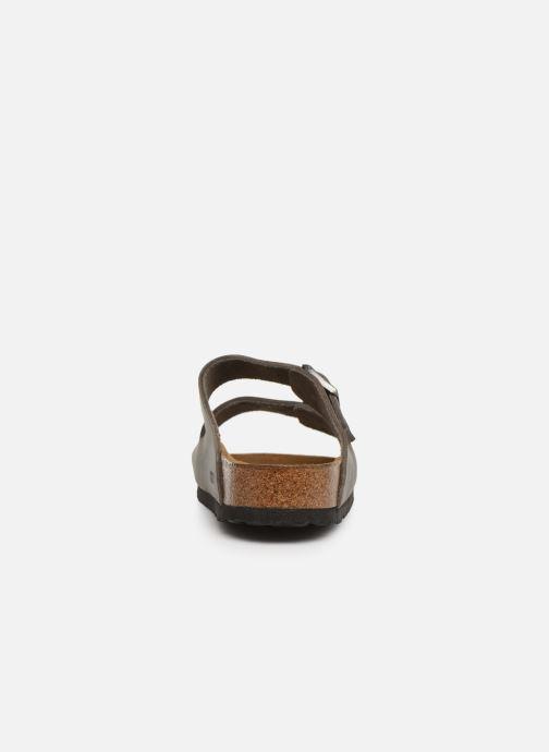 Sandales et nu-pieds Birkenstock Arizona Cuir Soft Footbed M Gris vue droite