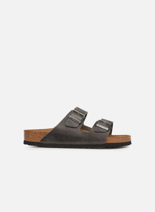 Sandalen Birkenstock Arizona Cuir Soft Footbed M grau ansicht von hinten