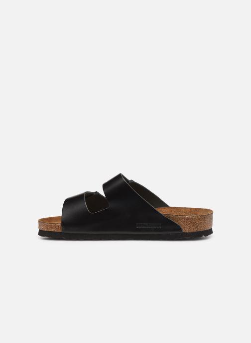 Sandalen Birkenstock Arizona Cuir Soft Footbed M Zwart voorkant