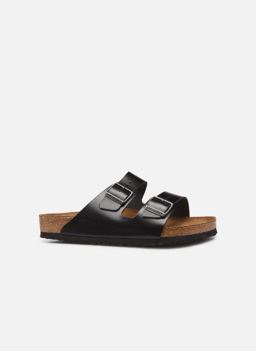 Sandalen Birkenstock Arizona Cuir Soft Footbed M Zwart achterkant