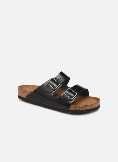 Sandales et nu-pieds Birkenstock Arizona Cuir Soft Footbed M Noir vue détail/paire