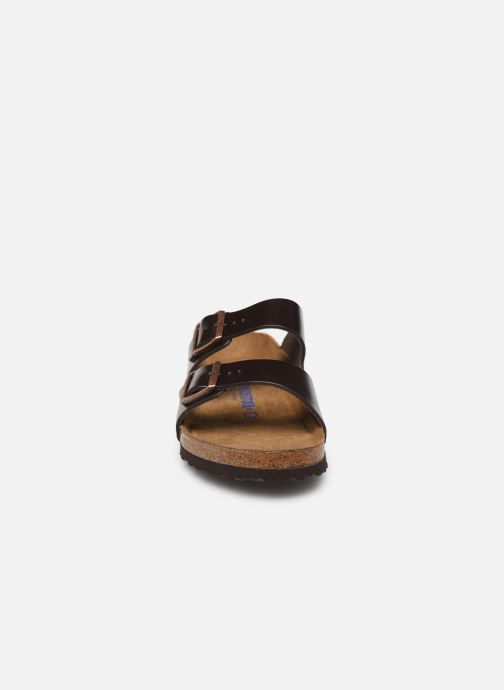 Sandalen Birkenstock Arizona Cuir Soft Footbed M Bruin model