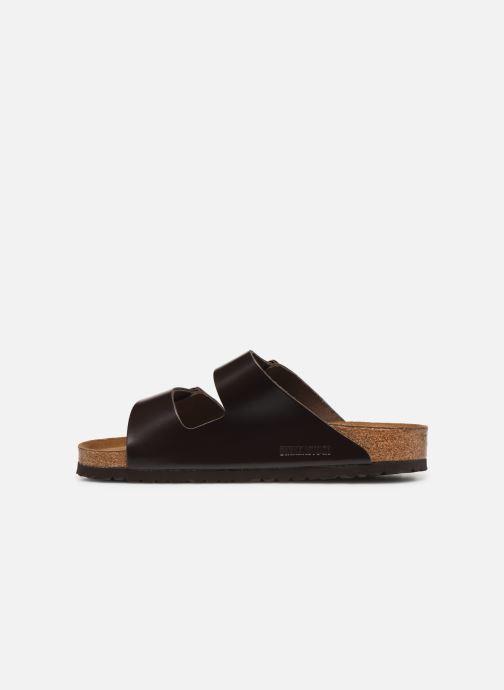 Sandalen Birkenstock Arizona Cuir Soft Footbed M Bruin voorkant