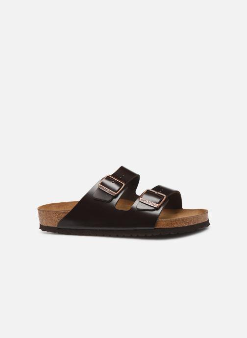 Sandalen Birkenstock Arizona Cuir Soft Footbed M Bruin achterkant