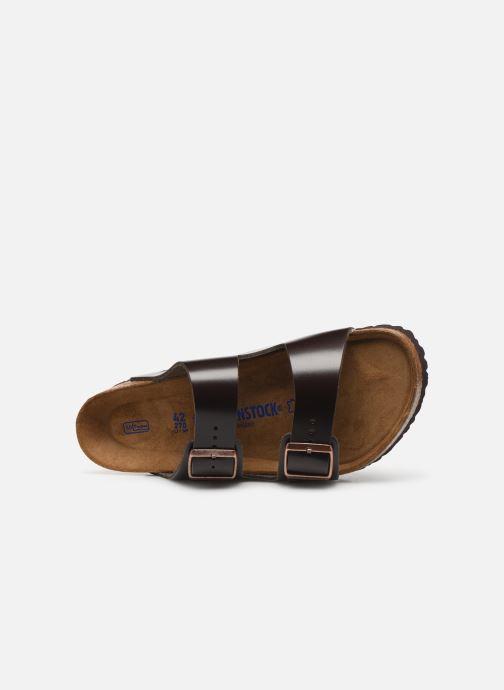 Sandales et nu-pieds Birkenstock Arizona Cuir Soft Footbed M Marron vue gauche