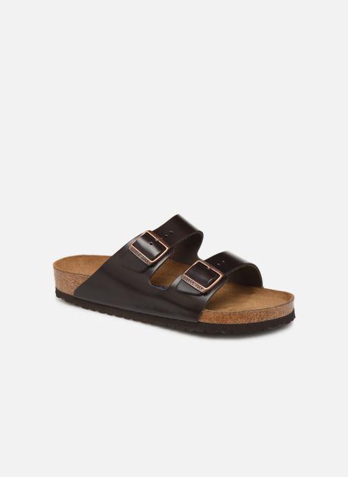 Sandalen Birkenstock Arizona Cuir Soft Footbed M Bruin detail