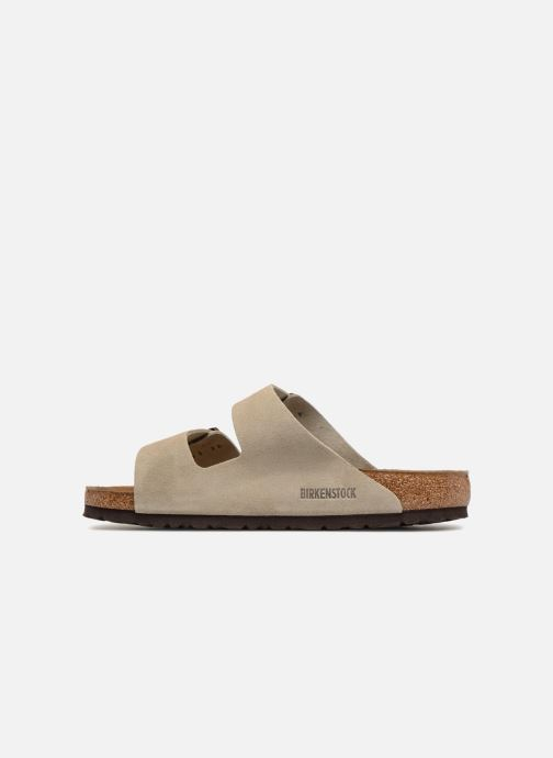 Sandali e scarpe aperte Birkenstock Arizona Cuir Suede Soft Footbed M Marrone immagine frontale