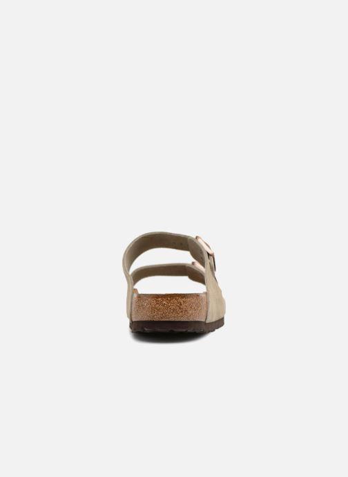 Sandales et nu-pieds Birkenstock Arizona Cuir Suede Soft Footbed M Marron vue droite