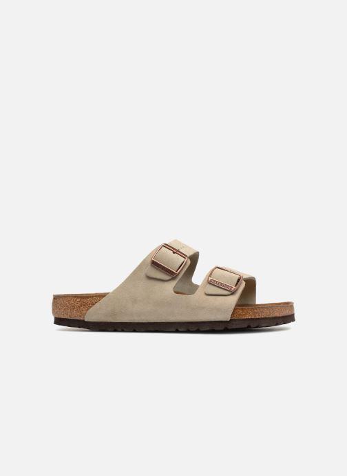 Sandales et nu-pieds Birkenstock Arizona Cuir Suede Soft Footbed M Marron vue derrière