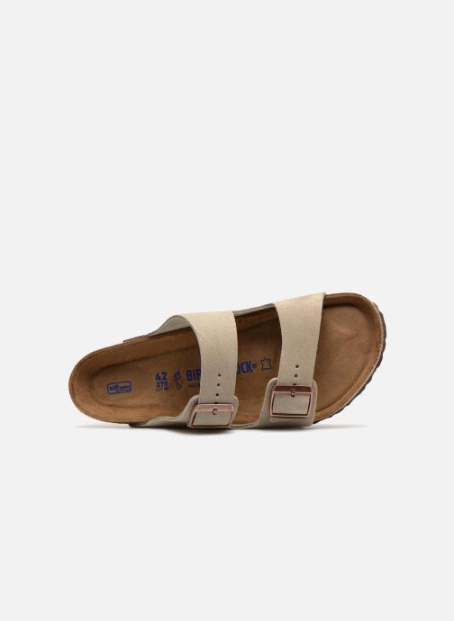 Sandales et nu-pieds Birkenstock Arizona Cuir Suede Soft Footbed M Marron vue gauche