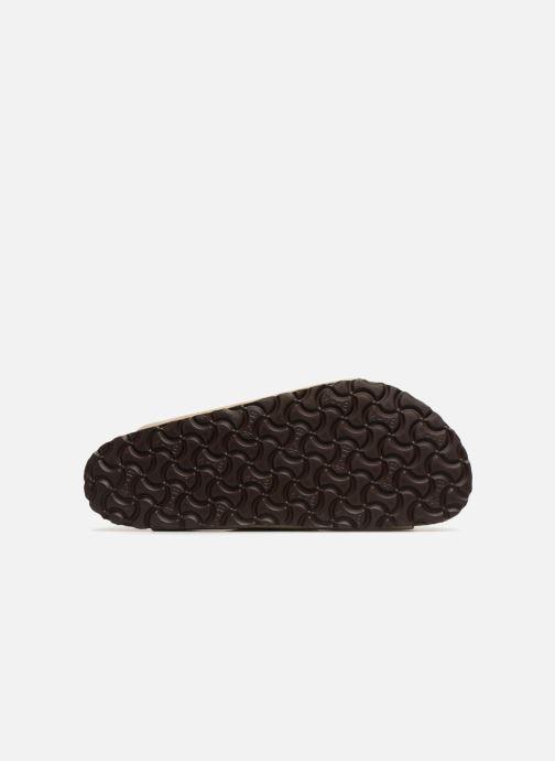 Sandales et nu-pieds Birkenstock Arizona Cuir Suede Soft Footbed M Marron vue haut