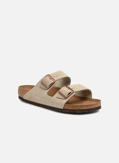 Sandalen Birkenstock Arizona Cuir Suede Soft Footbed M Bruin detail