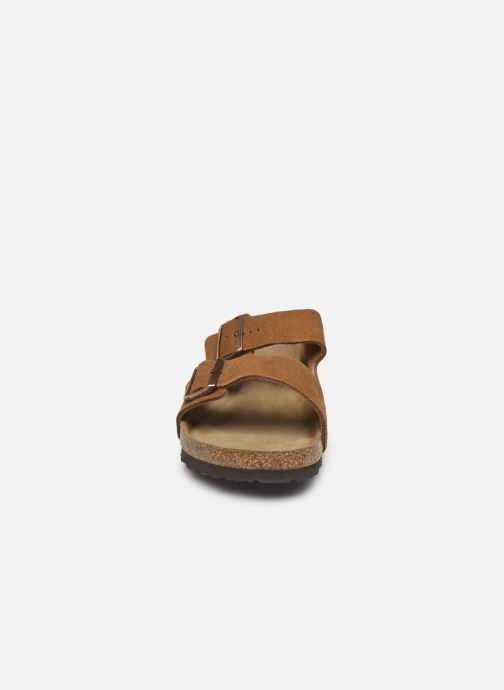 Sandalen Birkenstock Arizona Cuir Suede Soft Footbed M Bruin model