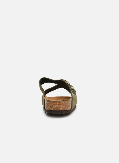 Sandales et nu-pieds Birkenstock Arizona Cuir Suede Soft Footbed M Vert vue droite