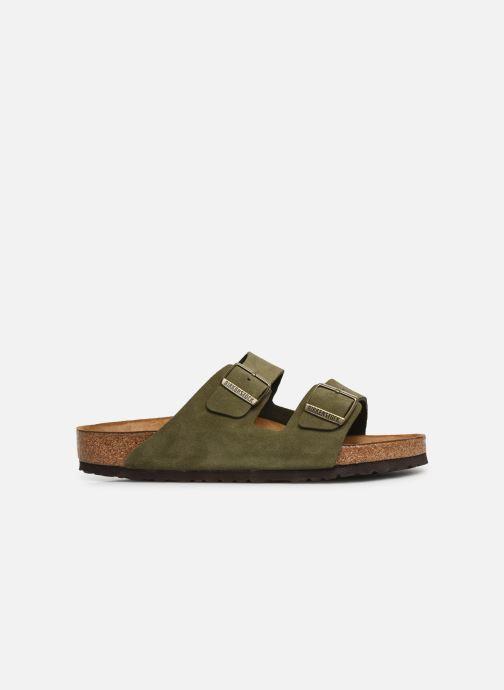 Sandales et nu-pieds Birkenstock Arizona Cuir Suede Soft Footbed M Vert vue derrière