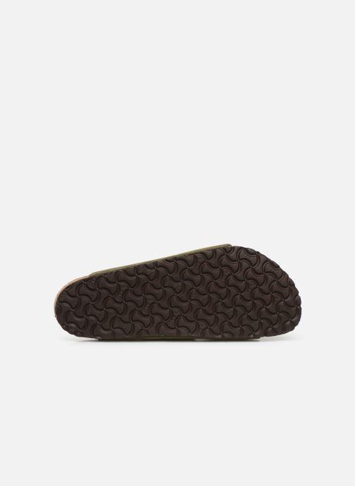 Sandales et nu-pieds Birkenstock Arizona Cuir Suede Soft Footbed M Vert vue haut