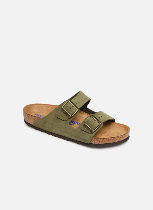 Sandales et nu-pieds Birkenstock Arizona Cuir Suede Soft Footbed M Vert vue détail/paire
