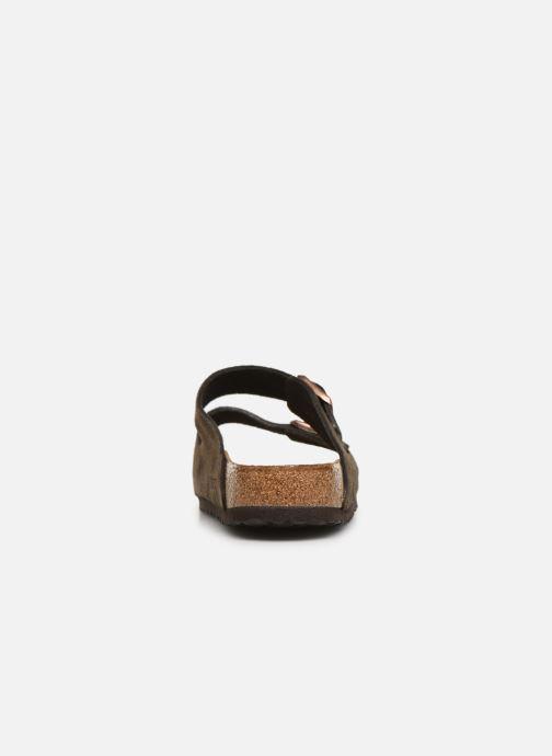Sandalias Birkenstock Arizona Cuir Suede Soft Footbed M Gris vista lateral derecha