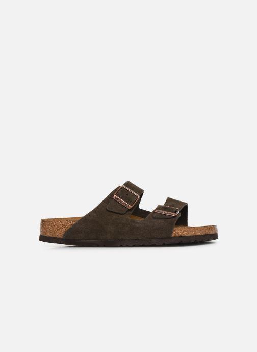 Sandales et nu-pieds Birkenstock Arizona Cuir Suede Soft Footbed M Gris vue derrière