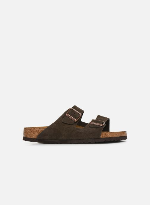 Sandals Birkenstock Arizona Cuir Suede Soft Footbed M Grey back view