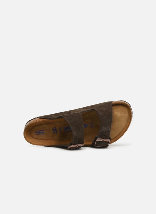Sandales et nu-pieds Birkenstock Arizona Cuir Suede Soft Footbed M Gris vue gauche
