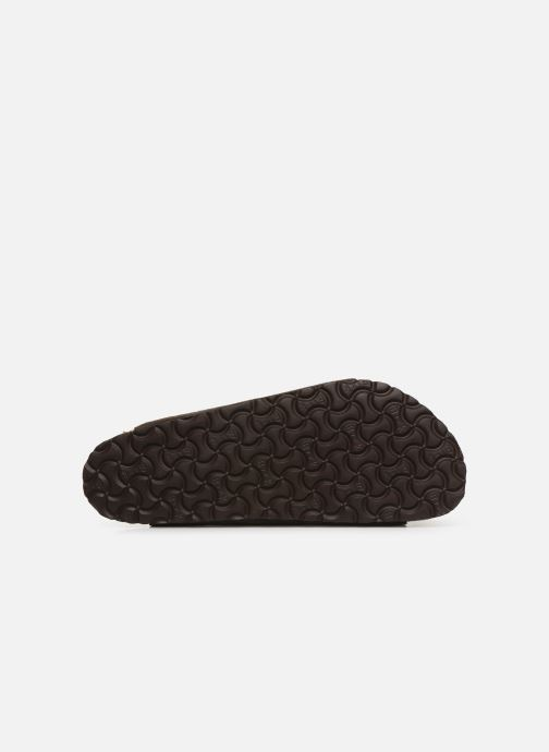 Sandales et nu-pieds Birkenstock Arizona Cuir Suede Soft Footbed M Gris vue haut