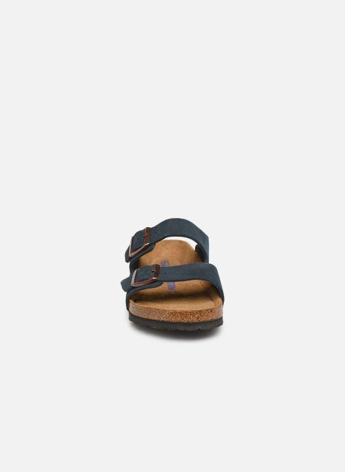 Sandalen Birkenstock Arizona Cuir Suede Soft Footbed M Blauw model
