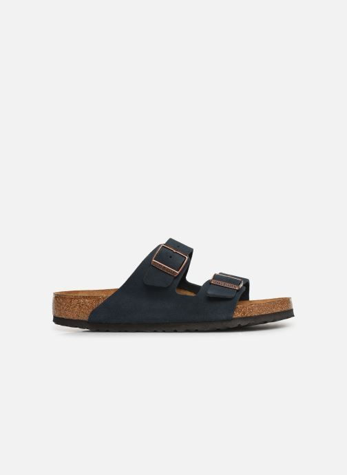 Sandalen Birkenstock Arizona Cuir Suede Soft Footbed M Blauw achterkant