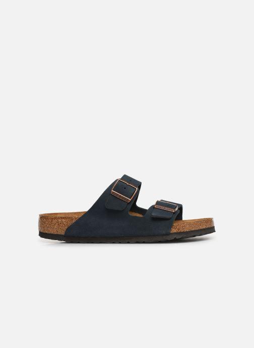 Sandales et nu-pieds Birkenstock Arizona Cuir Suede Soft Footbed M Bleu vue derrière