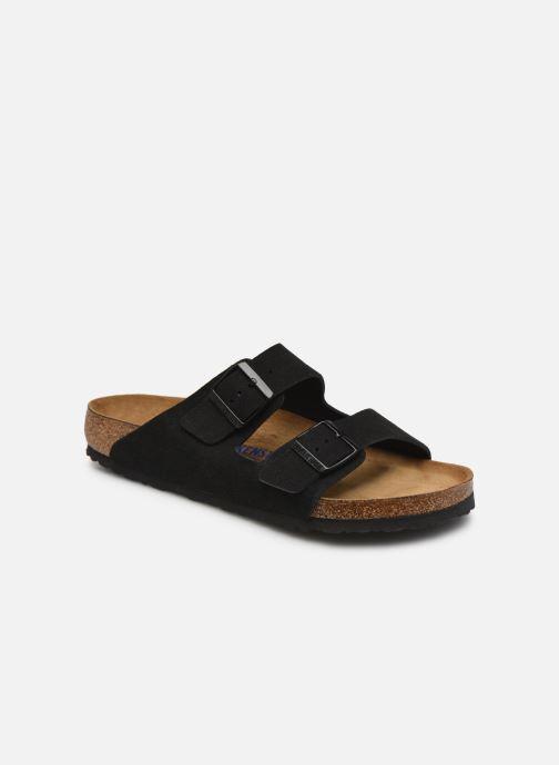 Sandalias Birkenstock Arizona Cuir Suede Soft Footbed M Negro vista de detalle / par