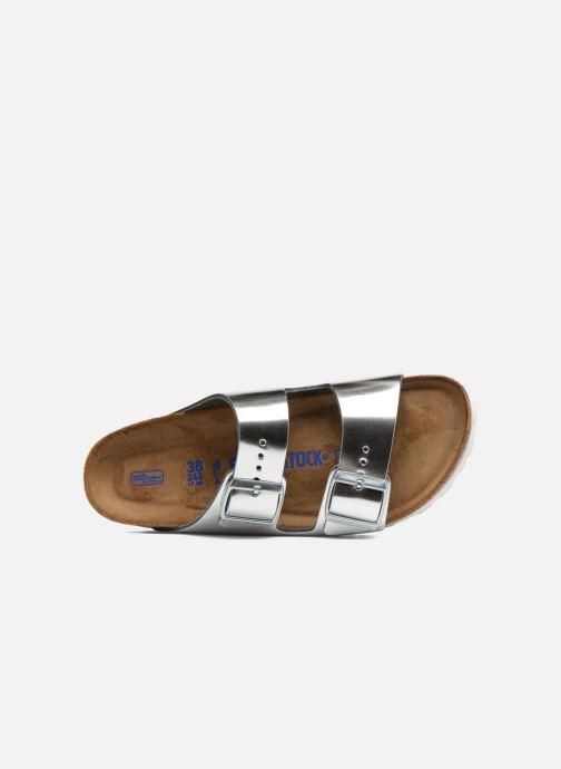 Clogs & Pantoletten Birkenstock Arizona Cuir Soft Footbed W silber ansicht von links